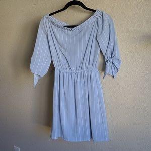 Chiffon Off-the-Shoulder Dress
